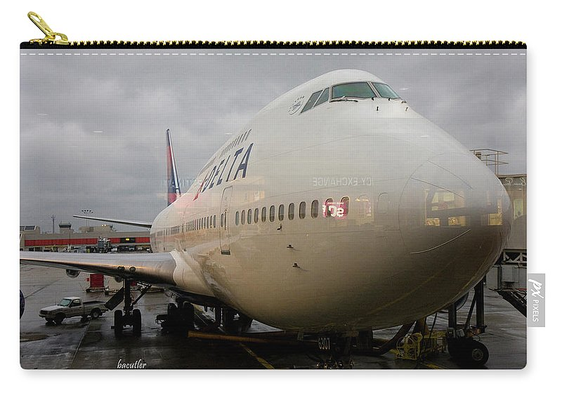 Airplane Carry-all Pouch featuring the photograph Ready To Board by Betsy Knapp