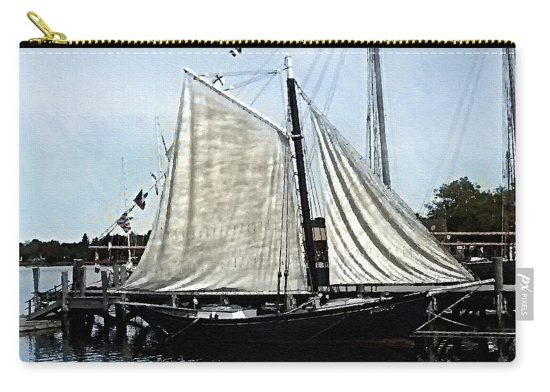 Antique Carry-all Pouch featuring the painting Ready To Sail by RC DeWinter