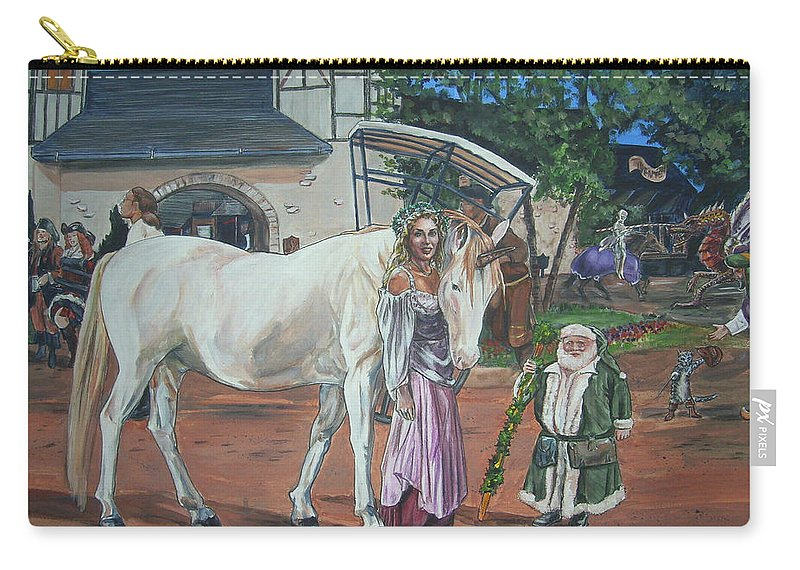 Renaissance Carry-all Pouch featuring the painting Real Life In Her Dreams by Bryan Bustard
