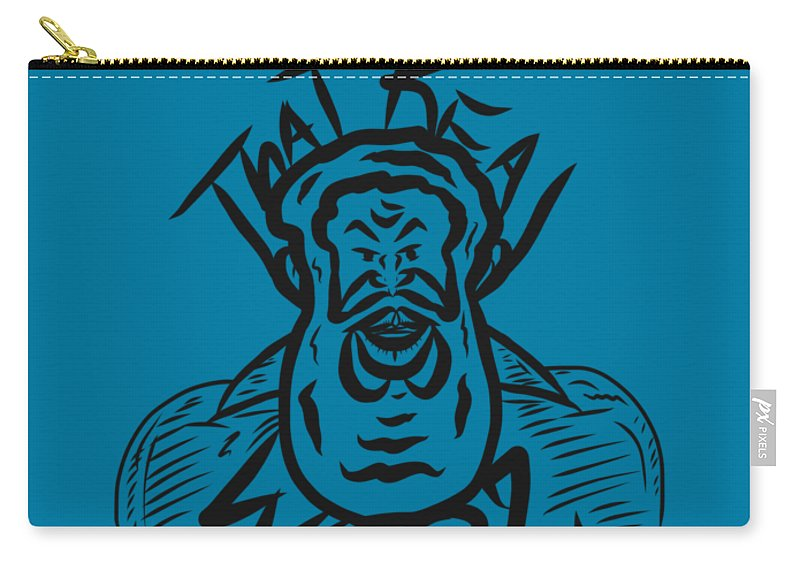 Carry-all Pouch featuring the digital art Real Wool Blue by Robert Watson