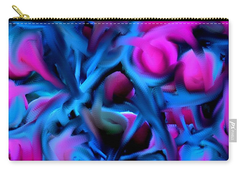 Abstract Carry-all Pouch featuring the digital art Reality Altered by Ian MacDonald