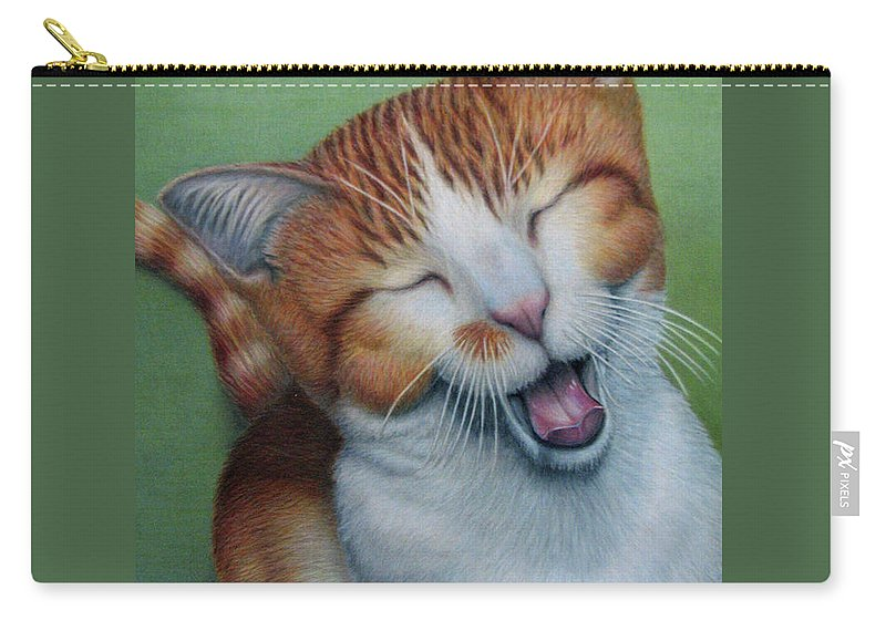 Fuqua - Artwork Carry-all Pouch featuring the drawing Really I Am Wide Aaawaaaaake by Beverly Fuqua