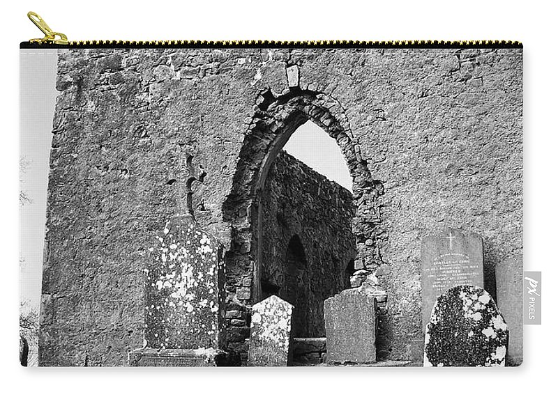 Ireland Carry-all Pouch featuring the photograph Rear Entrance Fuerty Church Roscommon Ireland by Teresa Mucha