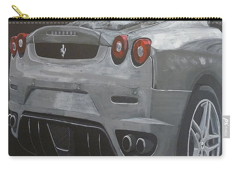 Ferrari Carry-all Pouch featuring the painting Rear Ferrari F430 by Richard Le Page