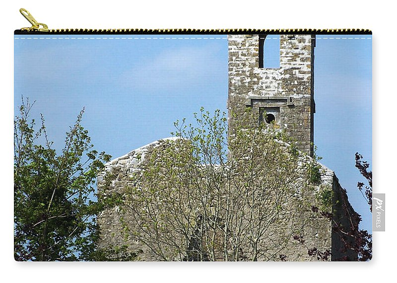 Fuerty Carry-all Pouch featuring the photograph Rear View Fuerty Church And Cemetery Roscommon Ireland by Teresa Mucha