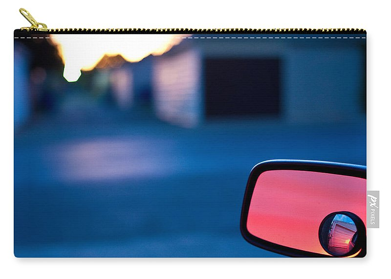 Car Mirror Carry-all Pouch featuring the photograph Rearview Mirror by Steven Dunn