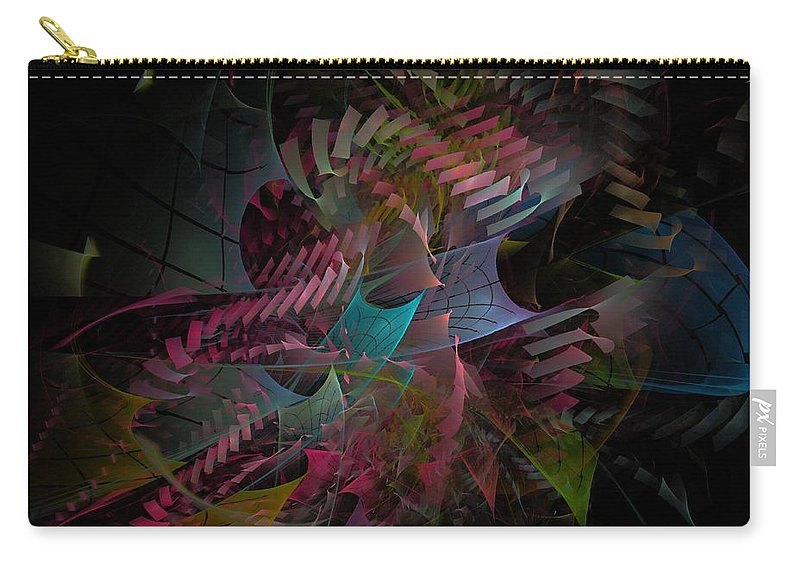 Abstract Carry-all Pouch featuring the digital art Reason And Virtue - Fractal Art by NirvanaBlues