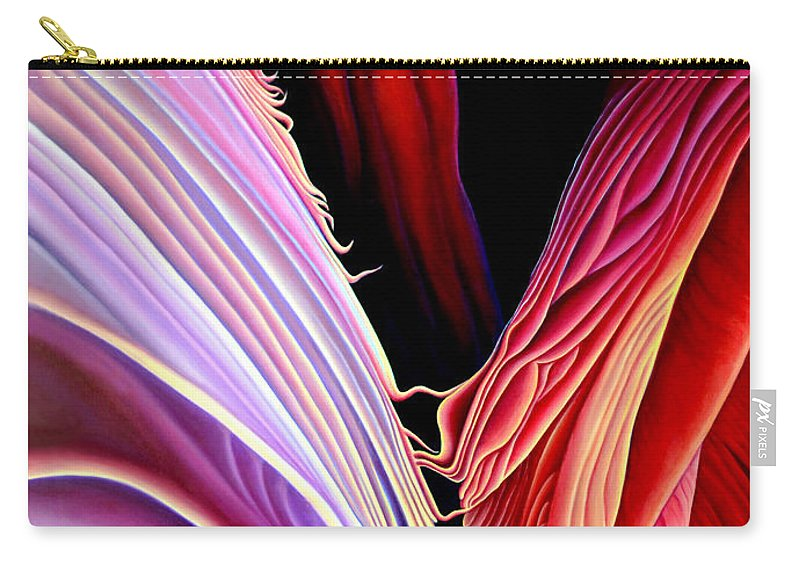 Antalope Canyon Carry-all Pouch featuring the painting Rebirth by Anni Adkins