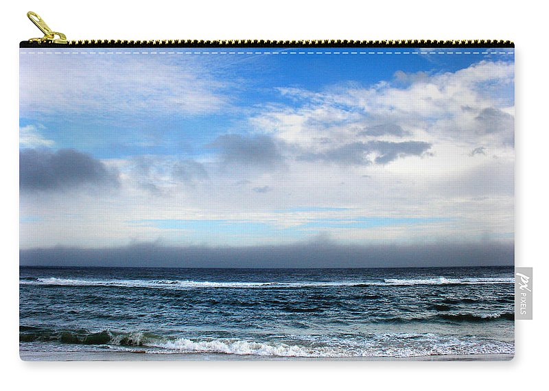 Seascape Carry-all Pouch featuring the photograph Receding Fog Seascape by Steve Karol