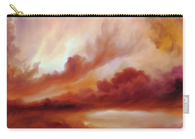 Skyscape Carry-all Pouch featuring the painting Receding Storm Sketch IIi by James Christopher Hill