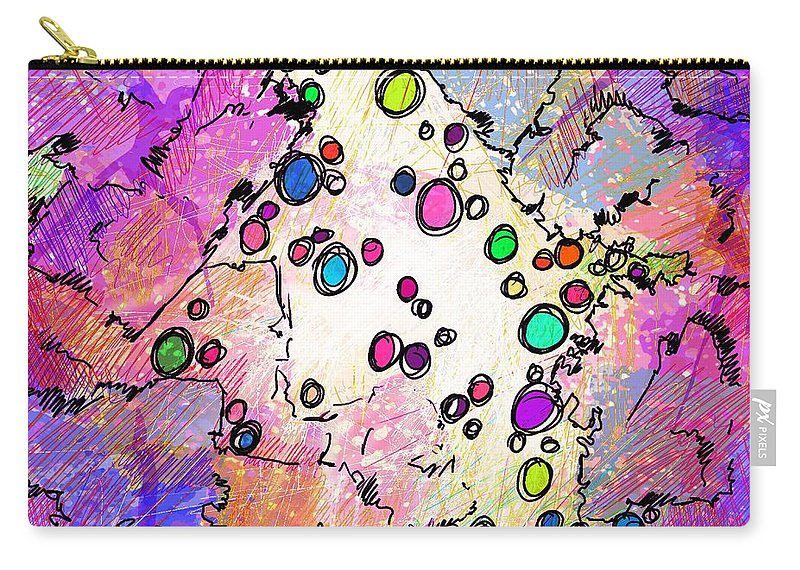 Recess Carry-all Pouch featuring the digital art Recess by Rachel Christine Nowicki