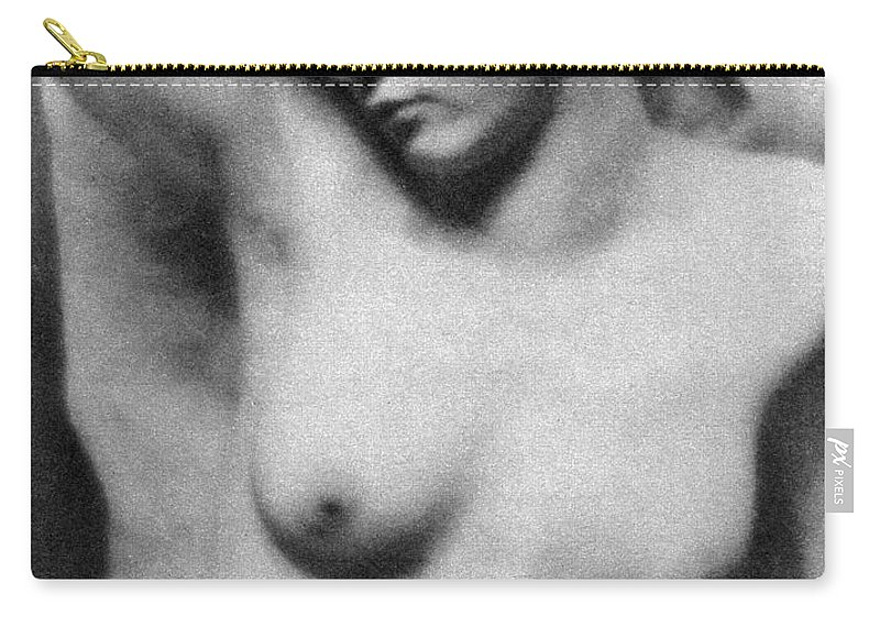 1910 Carry-all Pouch featuring the photograph Reclining Nude, C1910 by Granger