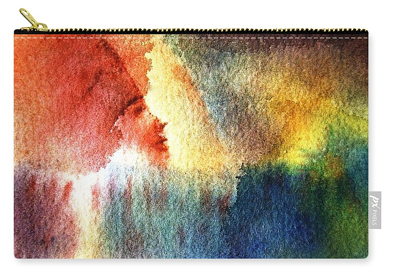 Face Carry-all Pouch featuring the painting Recognition by Ishwar Malleret