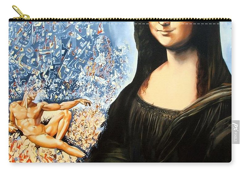 Surrealism Carry-all Pouch featuring the painting Reconstruction Of High Renaissance by Darwin Leon