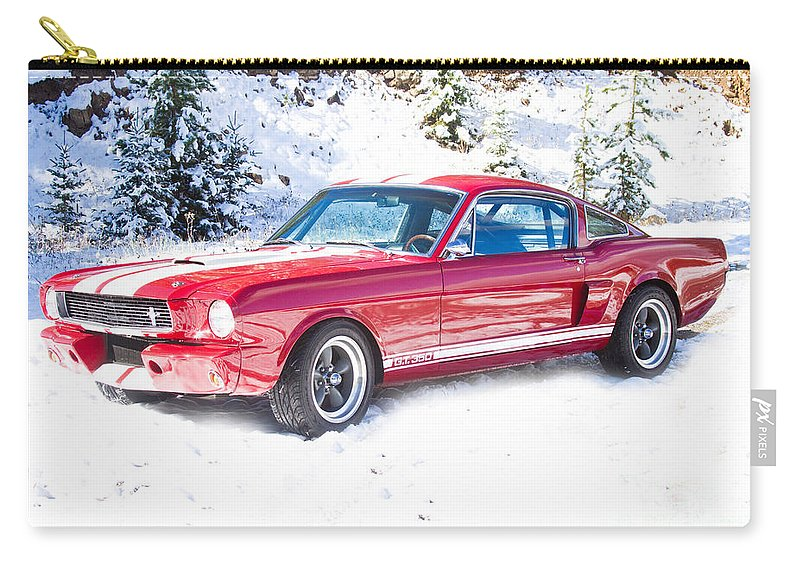 Automobiles Carry-all Pouch featuring the photograph Red 1966 Ford Mustang Shelby by James BO Insogna