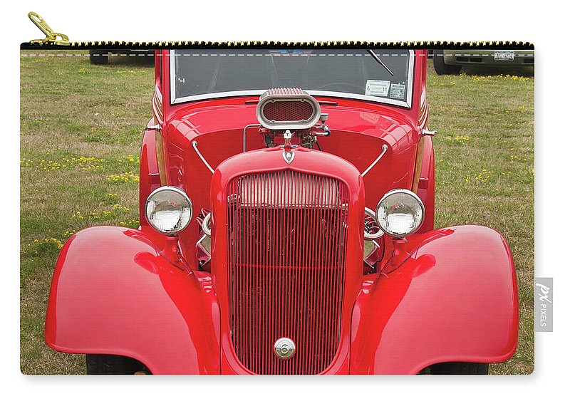 Antique Car Carry-all Pouch featuring the photograph Red 1990 by Guy Whiteley