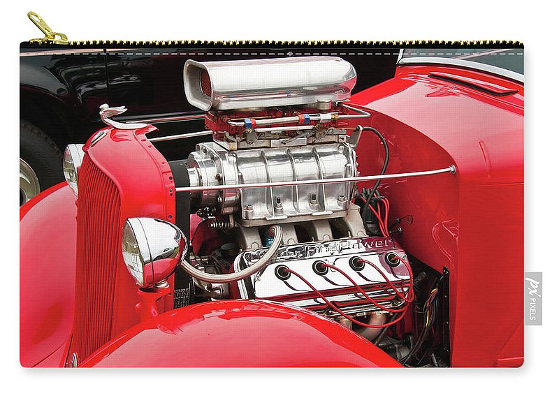 Antique Car Carry-all Pouch featuring the photograph Red 1992 by Guy Whiteley