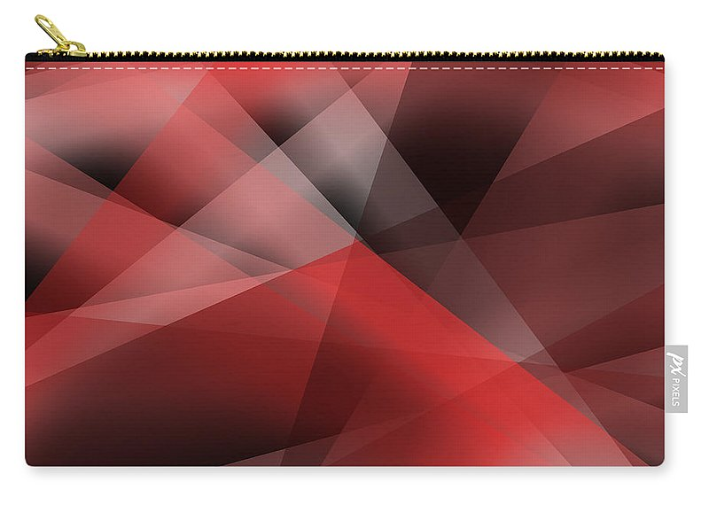 Red Abstract Carry-all Pouch featuring the digital art Red Abstract by Svetlana Sewell