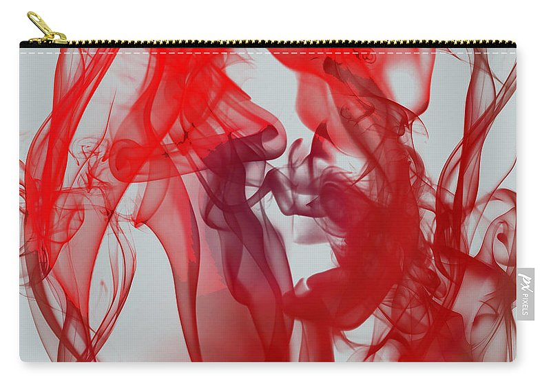Clay Carry-all Pouch featuring the digital art Red Alert by Clayton Bruster