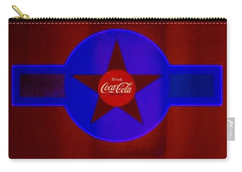 Label Carry-all Pouch featuring the painting Red And Blue by Charles Stuart