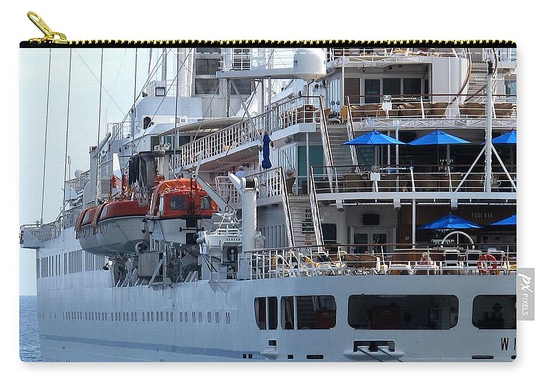 Ship Carry-all Pouch featuring the photograph Red And Blue by Ian MacDonald