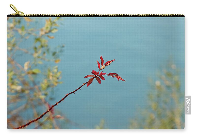 Red Carry-all Pouch featuring the photograph Red And Blue by MotionOne Studios