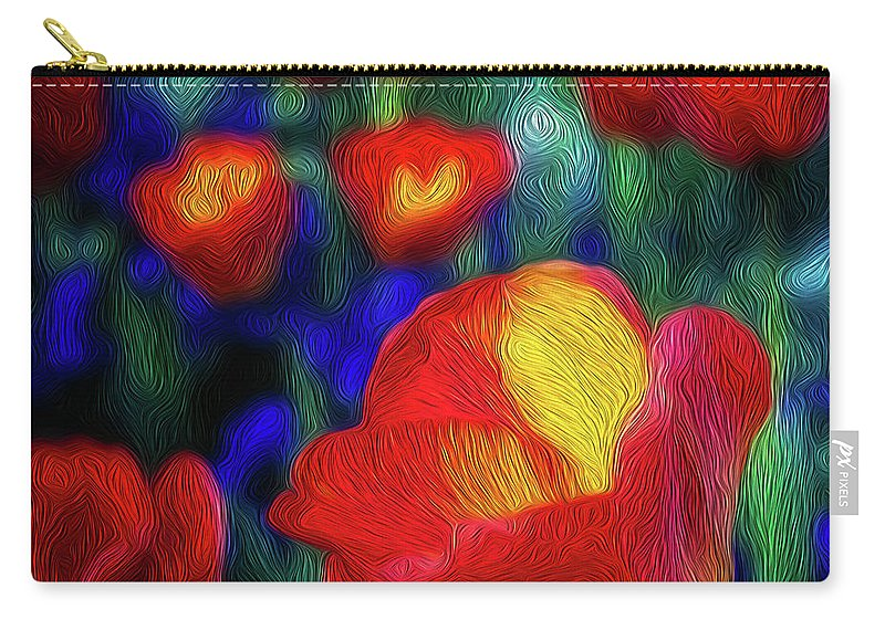 Tulips Carry-all Pouch featuring the photograph Red And Orange Tulips by Doug Sturgess