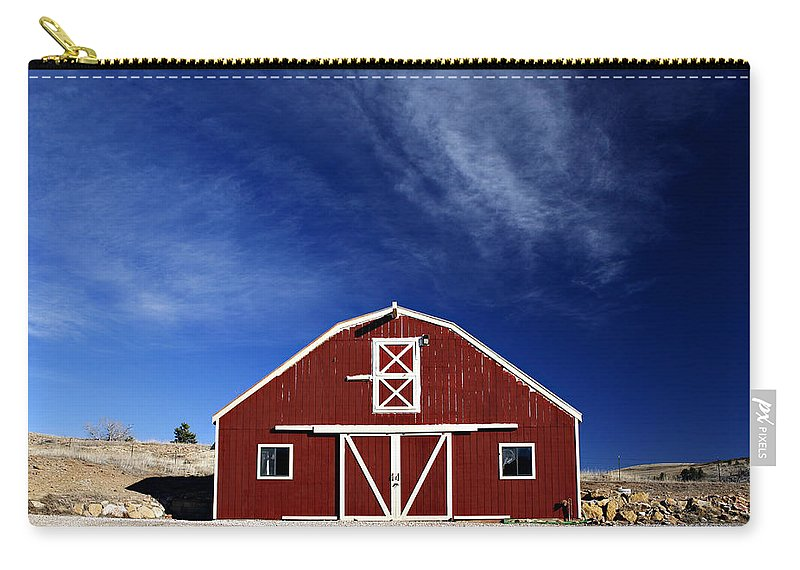 Americana Carry-all Pouch featuring the photograph Red And White Barn by Marilyn Hunt