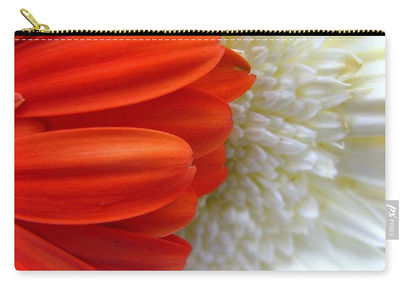Flowers Carry-all Pouch featuring the photograph Red And White by Rhonda Barrett