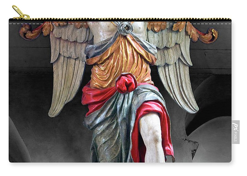 Color Carry-all Pouch featuring the photograph Red Angel One by Frederic A Reinecke