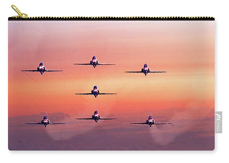 Dawn Carry-all Pouch featuring the photograph Red Arrows At Dawn by Chris Lord