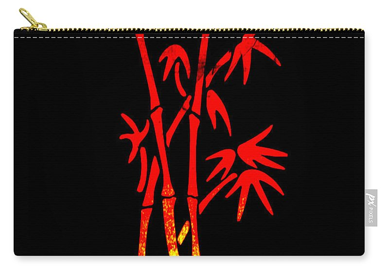 Patzer Carry-all Pouch featuring the photograph Red Bamboo by Greg Patzer