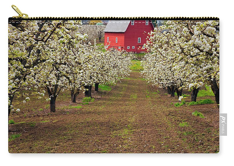 Barn Carry-all Pouch featuring the photograph Red Barn Avenue by Mike Dawson
