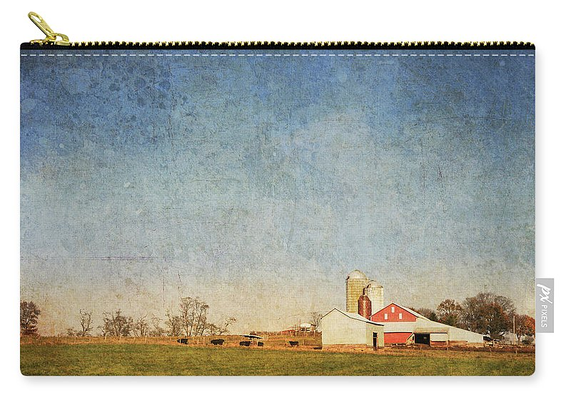 Barn Carry-all Pouch featuring the photograph Red Barn by Guy Crittenden