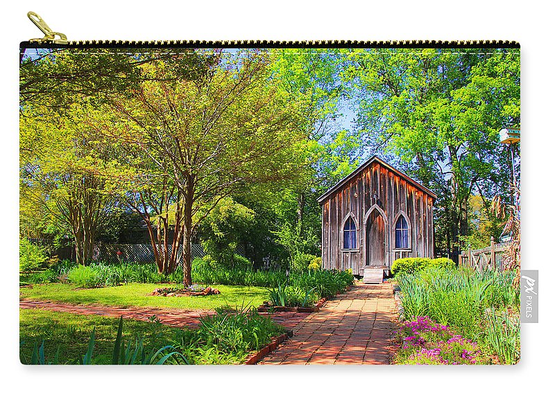 Alabama Carry-all Pouch featuring the photograph Red Brick Road by Iryna Goodall