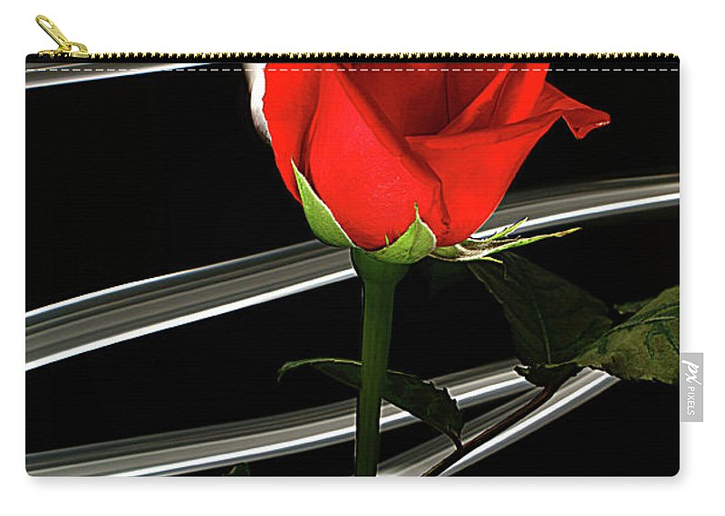 Rose Carry-all Pouch featuring the photograph Red by Bruce Bradley