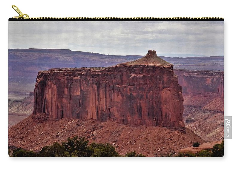 Butte Carry-all Pouch featuring the photograph Red Butte by Flo McKinley