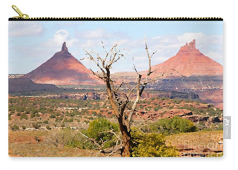 Buttes Carry-all Pouch featuring the photograph Red Buttes by David Lee Thompson