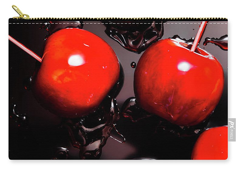 Creative Carry-all Pouch featuring the photograph Red Candy Apples Or Apple Taffy by Jorgo Photography - Wall Art Gallery