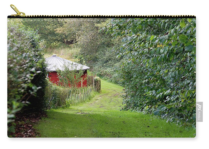 Red Carry-all Pouch featuring the photograph Red Cistern by Bernard Barcos