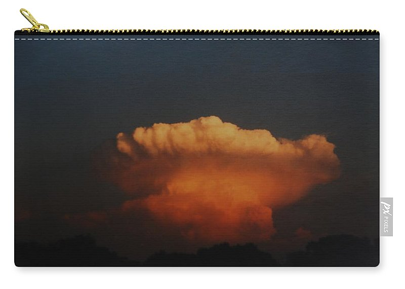Clouds Carry-all Pouch featuring the photograph Red Cloud by Rob Hans