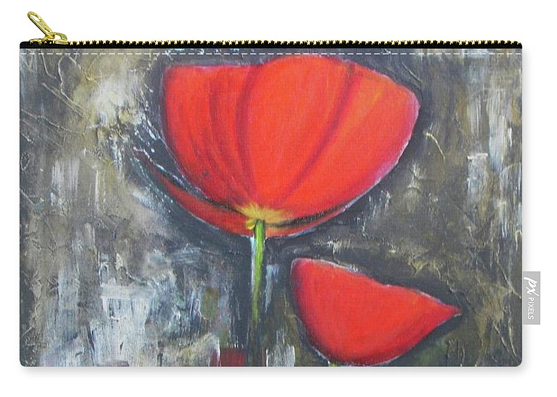 Abstract Carry-all Pouch featuring the painting Red Couple by Vesna Antic