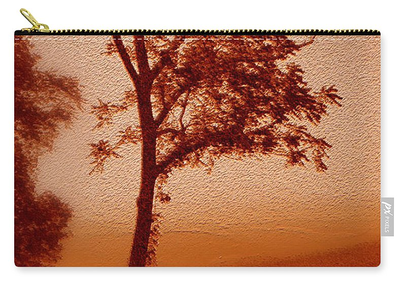 Red Dawn Carry-all Pouch featuring the photograph Red Dawn by Linda Sannuti