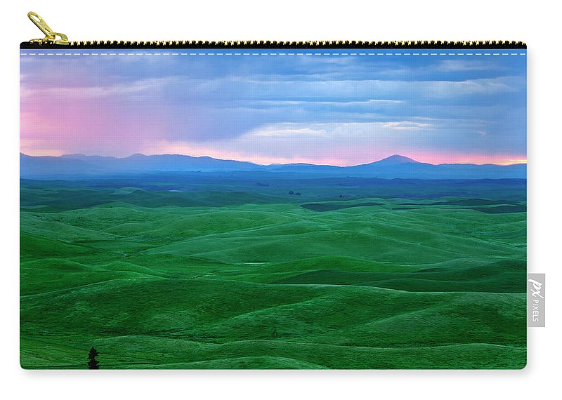 Palouse Carry-all Pouch featuring the photograph Red Dawn Over The Palouse by Mike Dawson