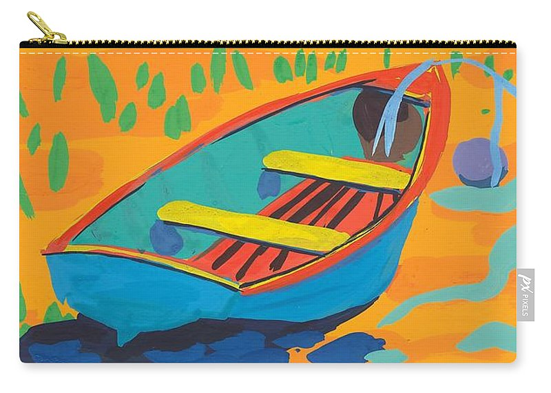 Boat Carry-all Pouch featuring the painting Red Deck by Sarah Gillard