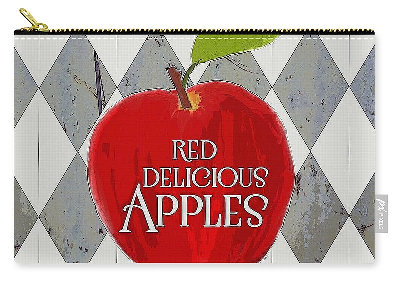 Apples Carry-all Pouch featuring the photograph Red Delicious Apples by Priscilla Wolfe