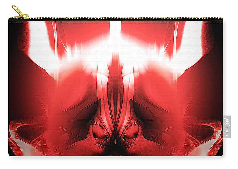 Clay Carry-all Pouch featuring the digital art Red Descent by Clayton Bruster