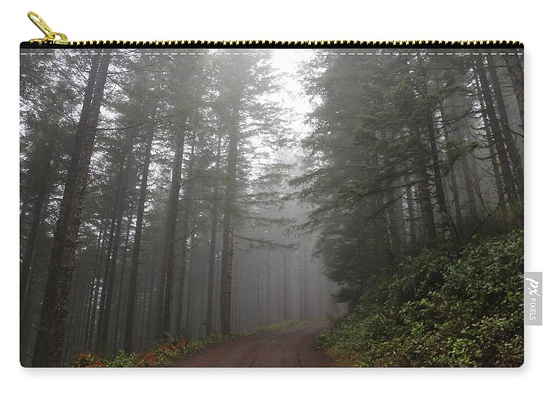 Trees Carry-all Pouch featuring the photograph Red Dirt Road by Dani Keating