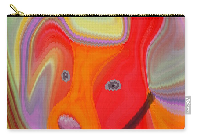 Abstract Carry-all Pouch featuring the digital art Red Dog by Ruth Palmer