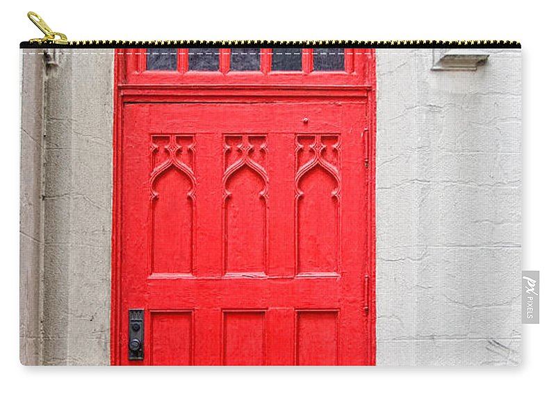 Door Carry-all Pouch featuring the photograph Red Door by Christopher Holmes